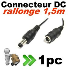 638/1# Câble alimentation DC  5,5 x 2,1mm mâle femelle ruban LED - caméra - 1pc