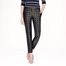 $238 J.CREW COLLECTION 2 100% Silk Tile Foulard Jacquard Pants Style 04299