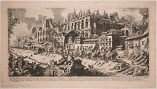 "Giovanni Battista Piranesi Etching ""Great Emperor Homes"" Rare Pope's Edition!"