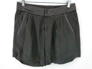 Rag & Bone 100% Silk Mini Shorts Gray Slash Pockets High Rise Size 0