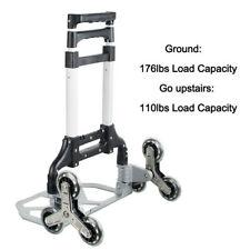 Portable Stair Climbing Folding Cart Climb Hand Truck 6wheel Trolley Stretchable
