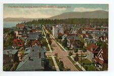 CANADA carte postale ancienne VANCOUVER the west end looking comox street