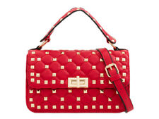 Ladies Studded Fx Leather Cross Body Shoulder Bag Quilted Satchel Handbag KT2175