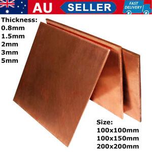 99.9/% Pure Copper Cu Metal Sheet Plate 0.5Mm*300Mm *100Mm WA