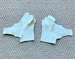 Nash Clarino Pro Hockey Glove Replacement Palms! Ice Gloves Palm Beige Ivory