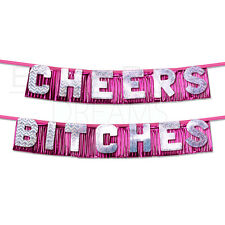 Bachelorette Party Favors Supplies Cheers Bitches Banner Adult Fun