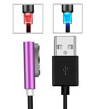 USB LED Magnet ladekabel Sony Xperia Z3 compact magnetisch Z2 Z1 Z ultra lila