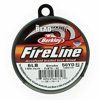 "Fireline Braided Beading Thread Smoke Grey 6lb-test, 50 Yards, 0.006"" dia"