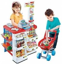 Childrens Electronic Supermarket Scanner Till & Shopping Trolley Roleplay Set