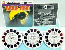 GAF J30  Wolf Man Classic Tales Viewmaster Reels Packet Set Of 3 Reels