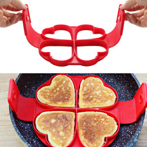 new Nonstick Pancake Maker Mould Silicone Omelette Egg Ring Mold Tool Tackle