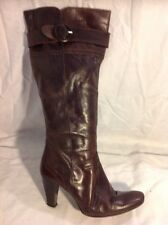 Next Brown Knee High Leather Boots Size 39