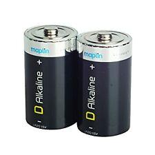 """""""D"""" Extra Long Life Alkaline Batteries 2 Pack (NEW) Maplin"""