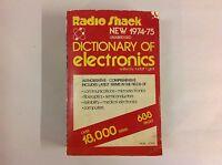 RADIO SHACK DICTIONARY OF ELECTRONICS 1974-75 Vintage Technology Book Manual