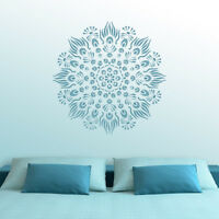 Peacock Pattern Mandala Stencil - Reusable DIY Medallion Motif Template