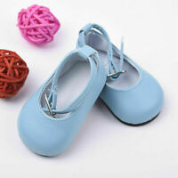 Handmade Blue Shoes For 18 inch Girl Doll Kids Baby 7.3cm Gift Gift New P9C B0K8