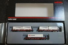 Marklin spur z scale/gauge. Freight Car Set. MHI.