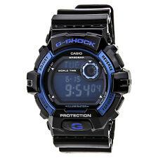 Casio Men's G8900A-1 Watch G-Shock Blue Digital Dial Black Resin Strap