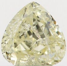 Natural Loose Diamond Yellow Color Heart I2 Clarity 3.50 MM 0.17 Ct KR870
