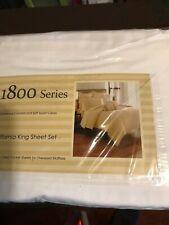 1800 SERIES CALIFORNIA KING SHEET SET DEEP POCKET SHEETS FOR OVERSIZED MATTRESS