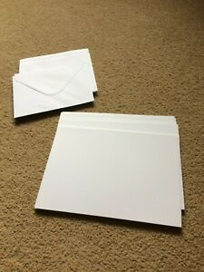 20 sheets of white thick good quality card 17.5cm x 12.5cm and white envelopes