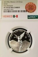 2019 MEXICO SILVER LIBERTAD 1/4 ONZA NGC PF 70 ULTRA CAMEO PERFECTION 1/4 OZ !