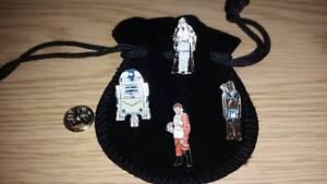 Masonic Star Wars Lapel pin set, Obi Wan Kenobi, Chewbacca, R2D2, Luke Skywalker
