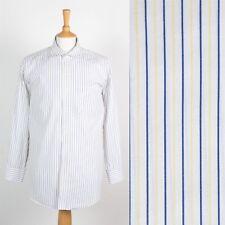 Da Uomo Tommy Hilfiger Camicia a Righe Blu Bianco Giallo Smart Giacca Blazer XL