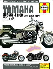 YAMAHA XVS 650 1100 V-STAR DRAG STAR SHOP SERVICE REPAIR MANUAL HAYNES BOOK NEW