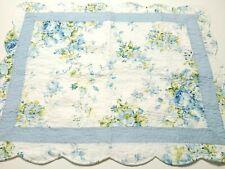 Sham Floral Quilted Cotton Garden 20 x 26 Rose RN 89134 White