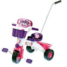 Pink Dreirad mit Lenkstange Schubstange Gurt Kinderdreirad Kinder Schiebestange