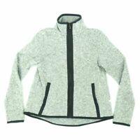 Lululemon Athletica Women's Sweater Jacket Marled Full Zip Mock Neck Gray Size 2