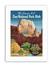 SUMMER GRAND CANYON NORTH RIM BRYCE ZION NATIONAL PARK UTAH Poster Travel