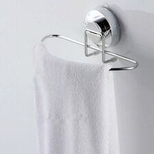 Stainless Steel Kitchen Bathroom Lavatory Suction Cup Shelf Rack Rail Towel Bar
