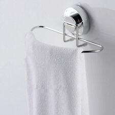 Stainless Steel Kitchen Bathroom Lavatory Suction Cup Shelf Rack Rail Towel Bar