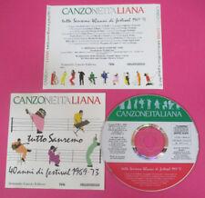 CD Compilation Canzoneitaliana Tutto Sanremo 40 Anni Di Festival 1969-73(C45)