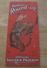 Original 1935  Pendleton Round-up Program W/ Ads for Shirts & Blankets Oregon