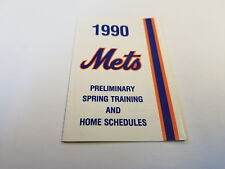 New York Mets Baseball Pocket Vintage Sports Schedules for