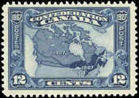 1927 Mint NH Canada F+ Scott #145 12c Confederation Anniversary Issue Stamp