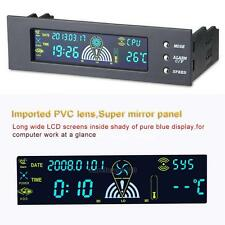 """5.25"""" Bay LCD Panel Computer LED Cooling Fan Speed CPU Temperature Controller"""