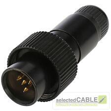 Hicon MINI- XLR 4 BROCHES FICHE Pro IP67 ACIER MAX Ø de câble 4,9mm