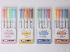 ZEBRA 20-Colors 4 SET Mildliner Soft Color Double-Sided Highlighter Pens