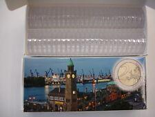50 Münzenkapseln für 2 Euro Münzen z.B. Malta oder Andorra von Historia Hamburg