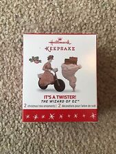 Hallmark Keepsake Ornaments (2) Limited Edition It's A Twister! Wizard Of Oz