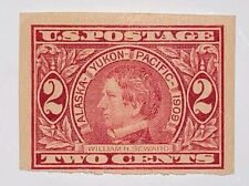 Travelstamps: US Stamps Scott #371 2c Seward 1909 Imperf Mint Hinged