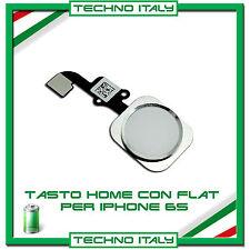 FLAT FLEX TASTO CENTRALE HOME BUTTON CURSORE PER IPHONE 6S BIANCO ARGENTO