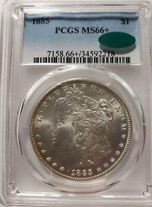 1885-P Morgan Silver Dollar PCGS MS66+ **CAC**Blast White Reflective Surfaces**