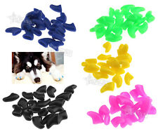 100Pcs Cute Pet Cats Soft Nail Claws Caps Kitten Beauty Claws Paws Off Control