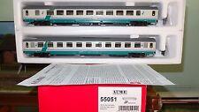 ACME 55051 Set 2 carrozze 2a cl.+DISABILI livrea XMPR banda verde obliqua FS