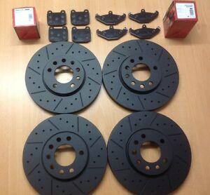 VX220 2.0 2.2 Speedster Front Rear Black Edition MTEC Brake Discs & Mintex Pads